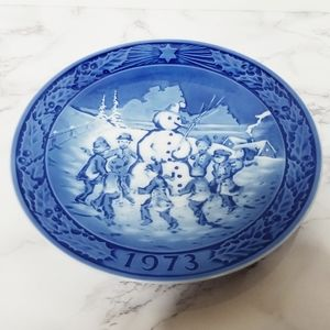 Other - VTG 1973 Marmot-China Christmas Hand Painted Plate